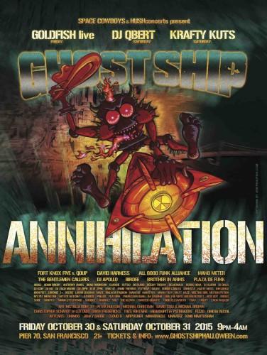 GhostShipHalloween FULLLineUP2015